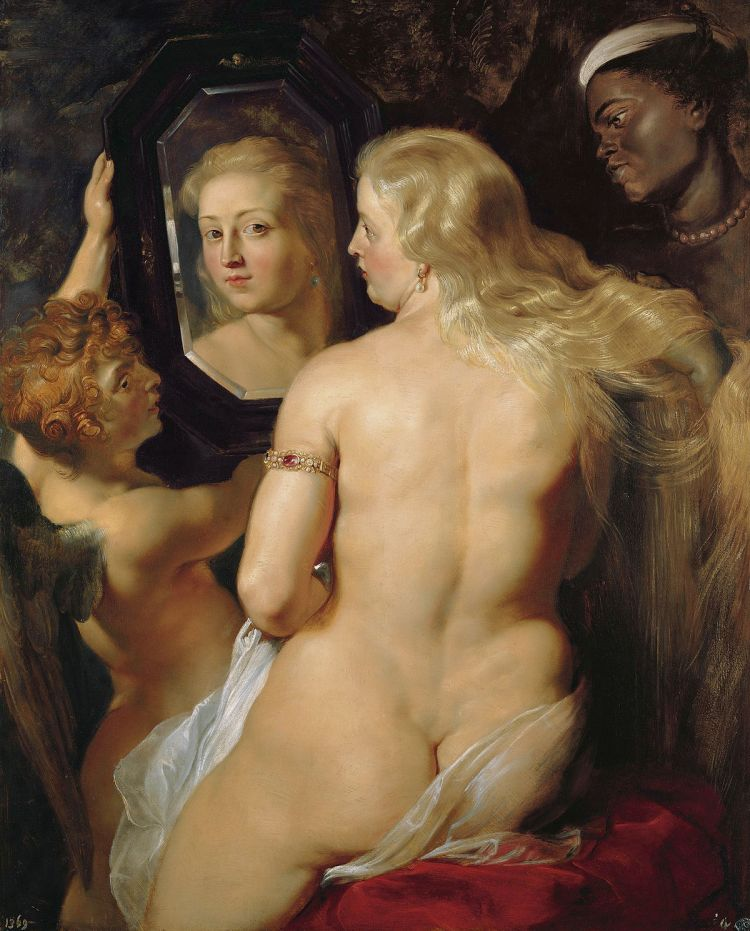 Venus at a Mirror by Peter Paul Rubens