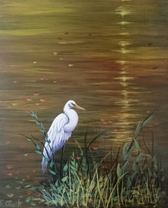 Egret in Pond